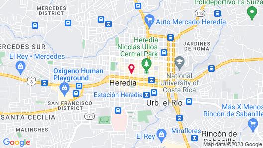 Hotel Hojarascas Map