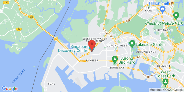 Map showing Singapore Discovery Cenre