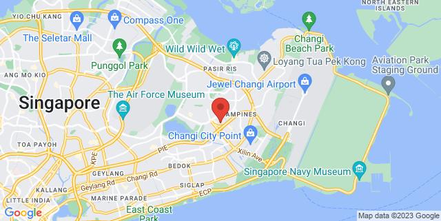 Map showing Tampines Round Market