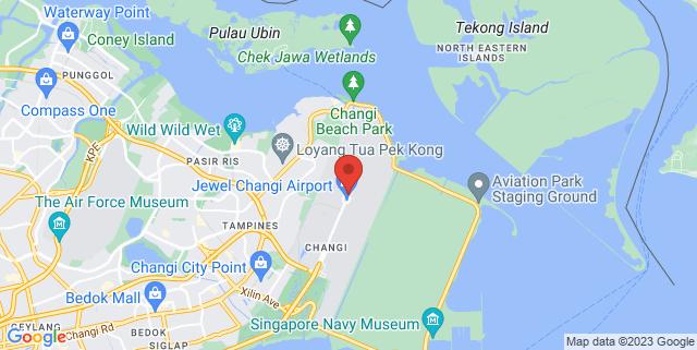 Map showing Jewel Changi Airport