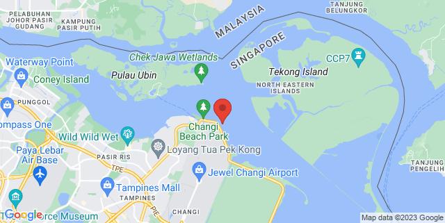 Map showing Changi Beach Park