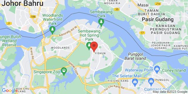 Map showing Chong Pang Market & Food Centre