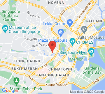 Map showing Singapore Tyler Print Institute