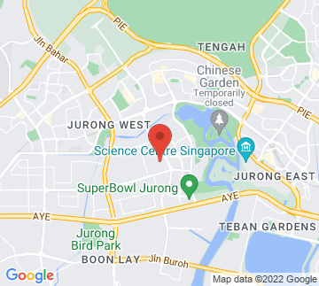 Map showing Jurong Stadium