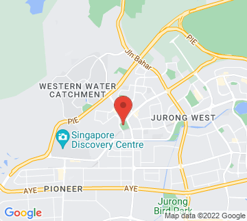 Map showing Jurong West Sports and Recreation Centre