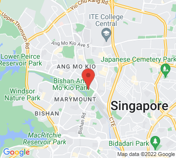 Map showing Bishan Park Lawn 1