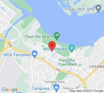 Map showing Pasir Ris Elias Community Club Auditorium