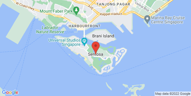 Map showing New Mempari Beach