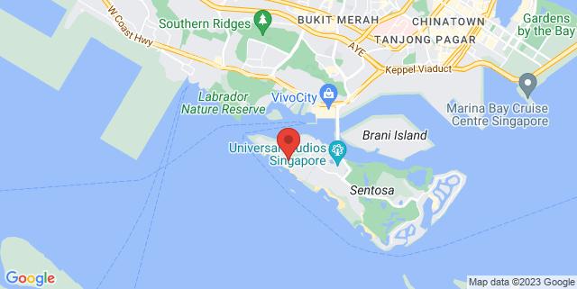 Map showing Siloso Beach Resort