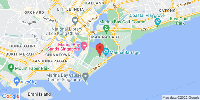 Map showing Bay Front MRT Control Room