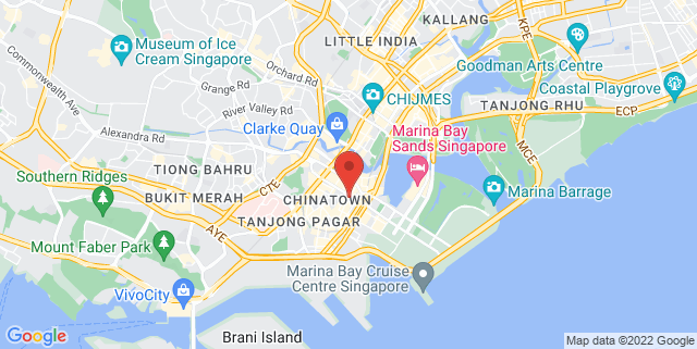 Map showing The Loft - Singapore Repertory Theatre