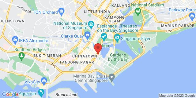 Map showing One Marina