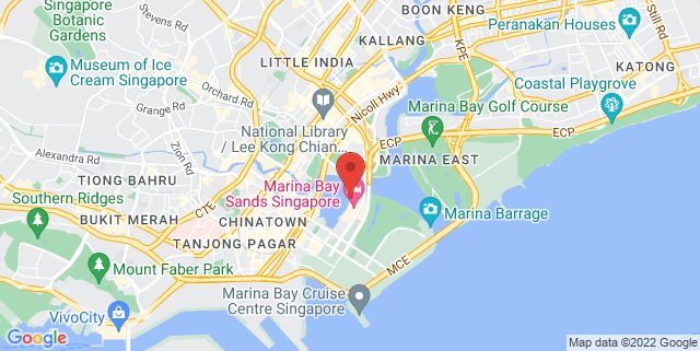 Map showing Under The Big Top (Next To Marina Bay Sands)