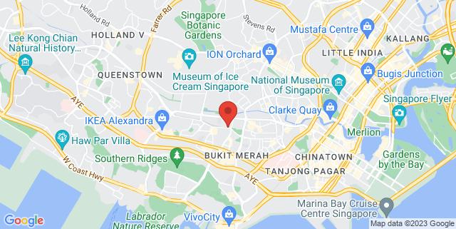 Map showing Tiong Bahru Park