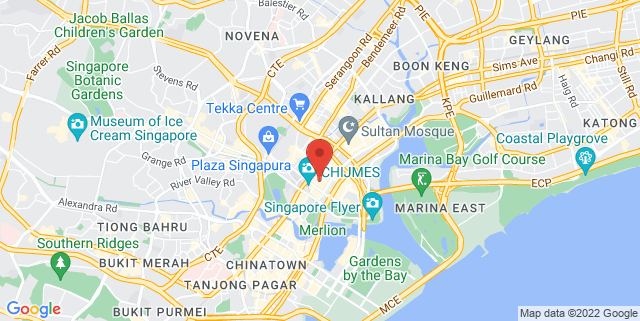 Map showing Raffles Hotel Arcade