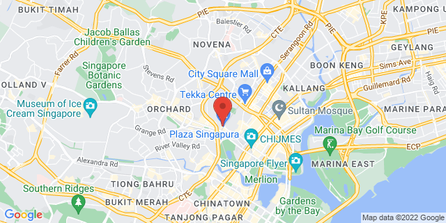 Map showing Plaza Singapura