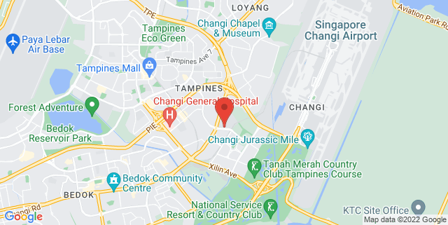 Map showing Singapore University of Technology and Design