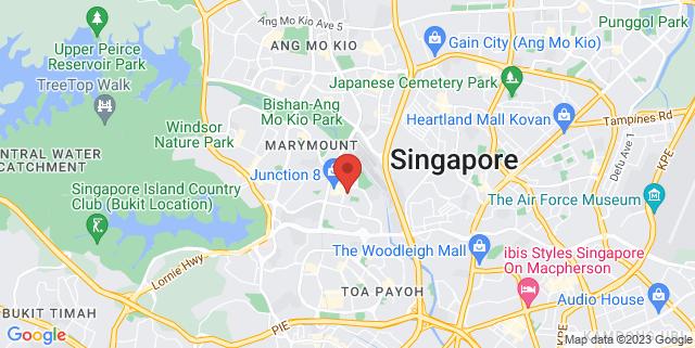 Map showing Bishan Community Club