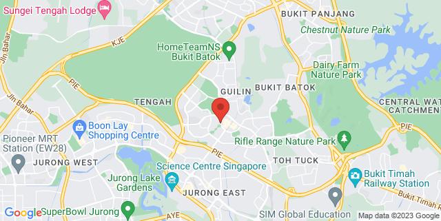 Map showing Bukit Batok Community Club Multi Purpose Hall