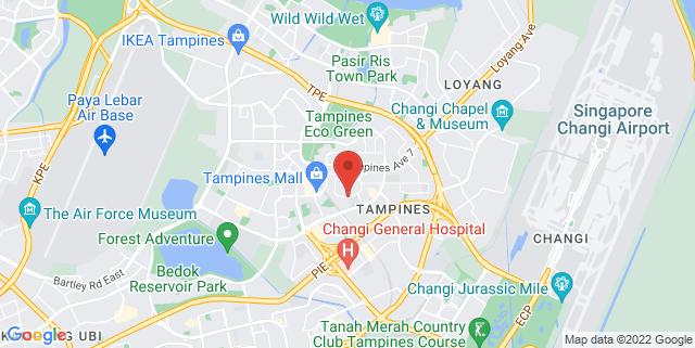 Map showing Tampines Festival Park