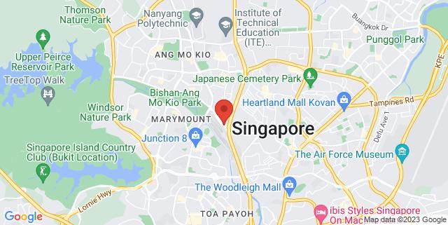 Map showing Bishan-Ang Mo Kio Park Activity Lawn 1