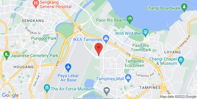 Map showing Tampines Community Plaza