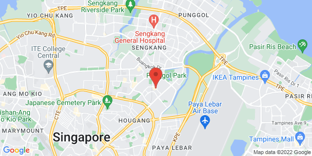 Map showing Hougang Central Hub (Next To Hougang Mall)