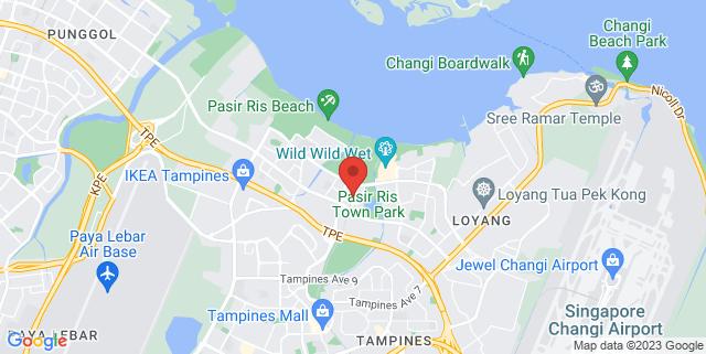 Map showing Pasir Ris Bus Interchange
