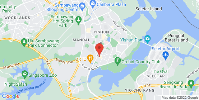 Map showing Open field Blk 846 Yishun Ring Rd