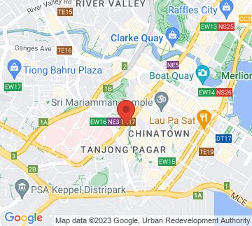 Map showing Dorsett Singapore