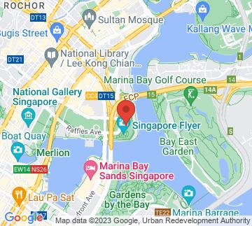 Map showing Marina Bay Street Circuit