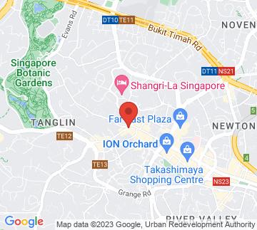 Map showing Tung Lok Classics, Orchard Parade Hotel