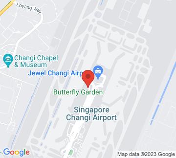 Map showing Crowne Plaza Changi Airport