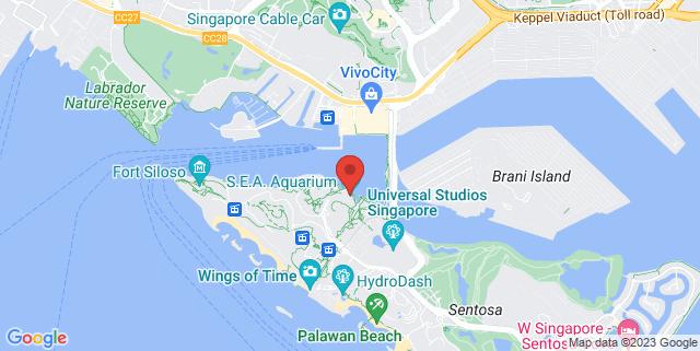 Map showing RWS Waterfront Promenade