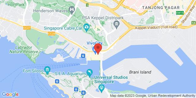 Map showing Golden Village VivoCity