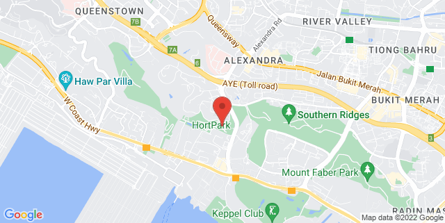 Map showing Vineyard @ Hort Park
