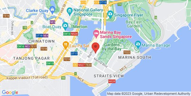 Map showing Singapore Favourite Food Village