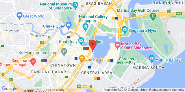 Map showing Oyster Bar
