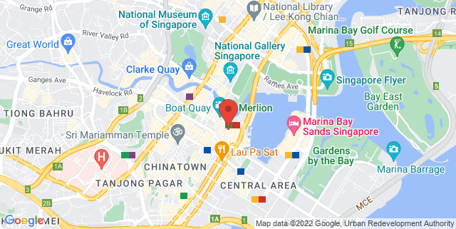 Map showing One Raffles Place Shopping Mall