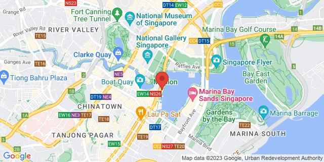 Map showing One Fullerton