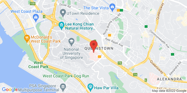 Map showing National University Hospital