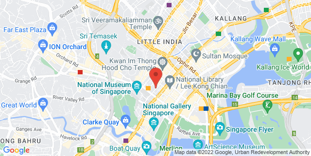 Map showing Artspace @ 222