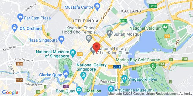 Map showing Bugis MRT
