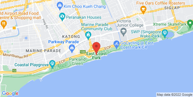 Map showing East Coast Park