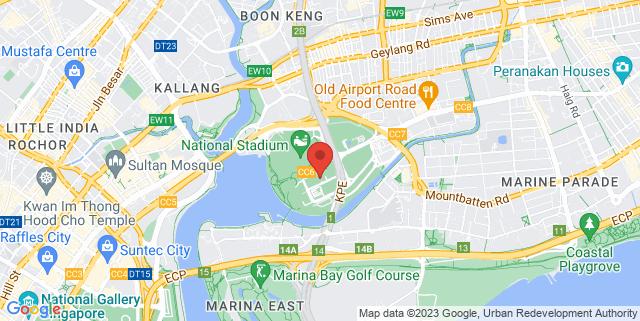 Map showing Kallang Leisure Park