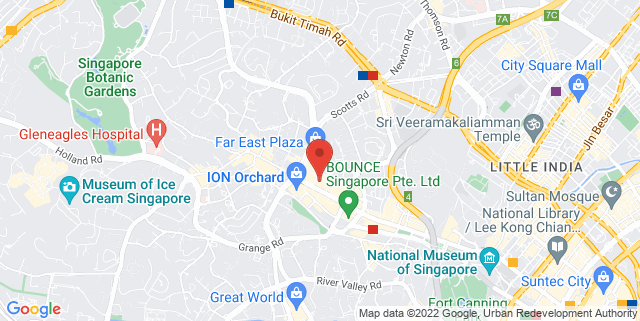 Map showing 150 Orchard Road #03-61