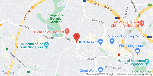 Map showing Tanglin Mall