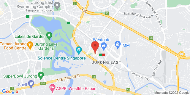 Map showing The Rink at JCube