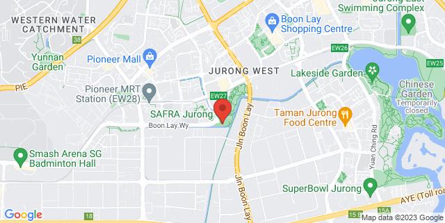 Map showing SAFRA Jurong