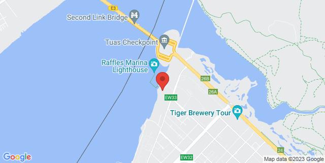 Map showing Raffles Marina